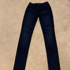 Mavi Alexa dark skinny jeans.  27x32.